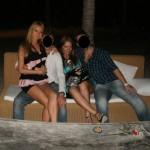 In Miami's nikki beach club with a friend.